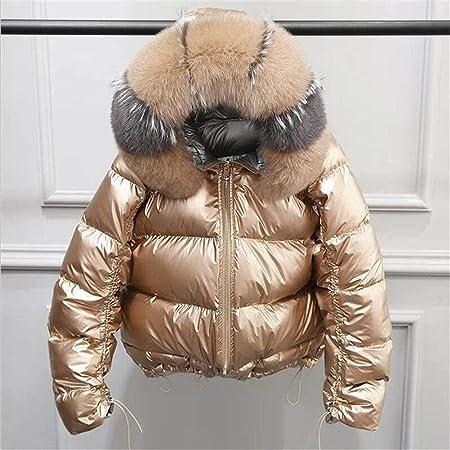 Giacca invernale in pelliccia di volpe naturale Giacca da