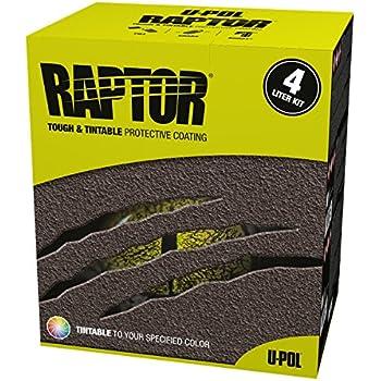 U-Pol Products 0820 RAPTOR Black Truck Bed Liner Kit - 4 Liter