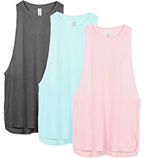 b654f4acd007b icyzone Yoga Tops Activewear Workout Clothes Sports Racerback Tank Tops for  Women