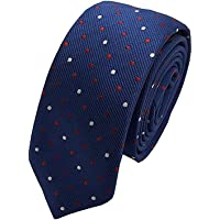 Tubination Boy's Blue Formal Neck Tie With Multicolor Dot Print