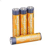 AmazonBasics - Pilas alcalinas AAA de 1,5 voltios, AAA, Paquete de 4