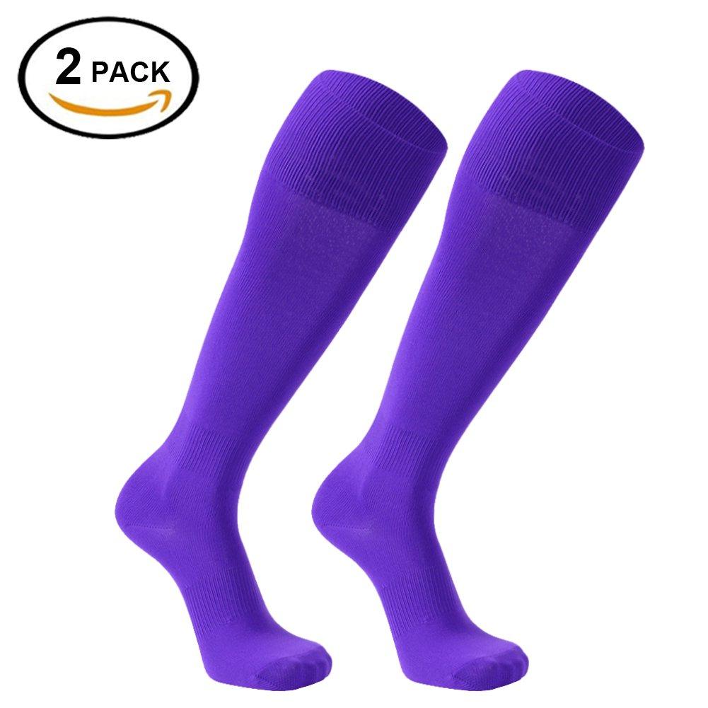 FOOTPLUS SOCKSHOSIERY ボーイズ B077P4ZN94 M|2 Pairs-purple 2 Pairs-purple M