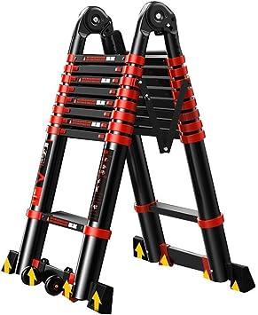 Escaleras telescópicas DD Escalera de Espiga, 3.4-8.2M Aluminio Tall Multi Propósito Pesado Máx. (Color : 1.7+1.7=Straight 3.4m): Amazon.es: Bricolaje y herramientas