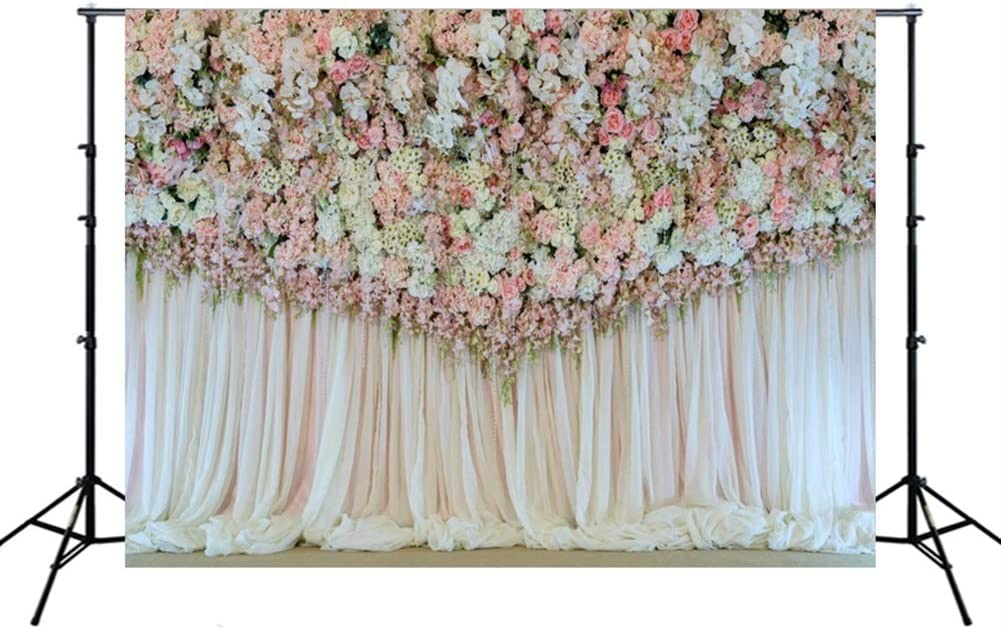 Insun Wall Photo Backdrop Floor Baby Shower Photography Background Non Reflective for Birthday Anniversary Party Photobooth 10x6.5ft WxL