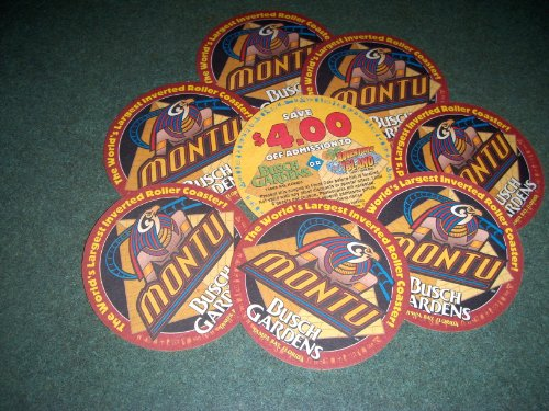 1997-montu-opens-at-busch-gardens-tampa-8-heavy-cardboard-coasters-with-coupon-on-back