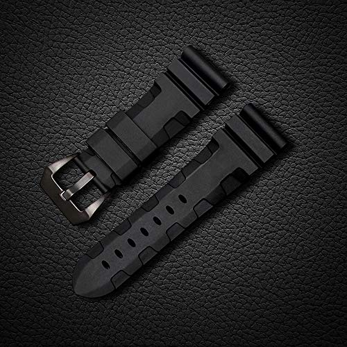 24mm Rubber Diver Replacement Watch Band PVD Buckle fit for Men Panerai Luminor Radiomir 42mm by Windam (Image #4)