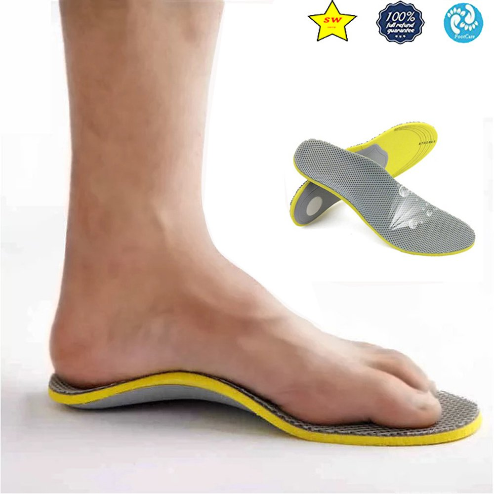 Super Memory Foam Orthotic Arch Insert Insoles Shoe Pads Sport Support RT