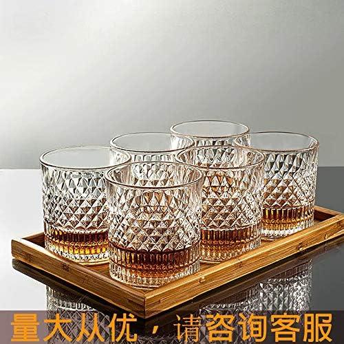 Nuca Glass Transparent Whiskey Glass Home Creative Liquor Spirits Wine Glass Beer Glass