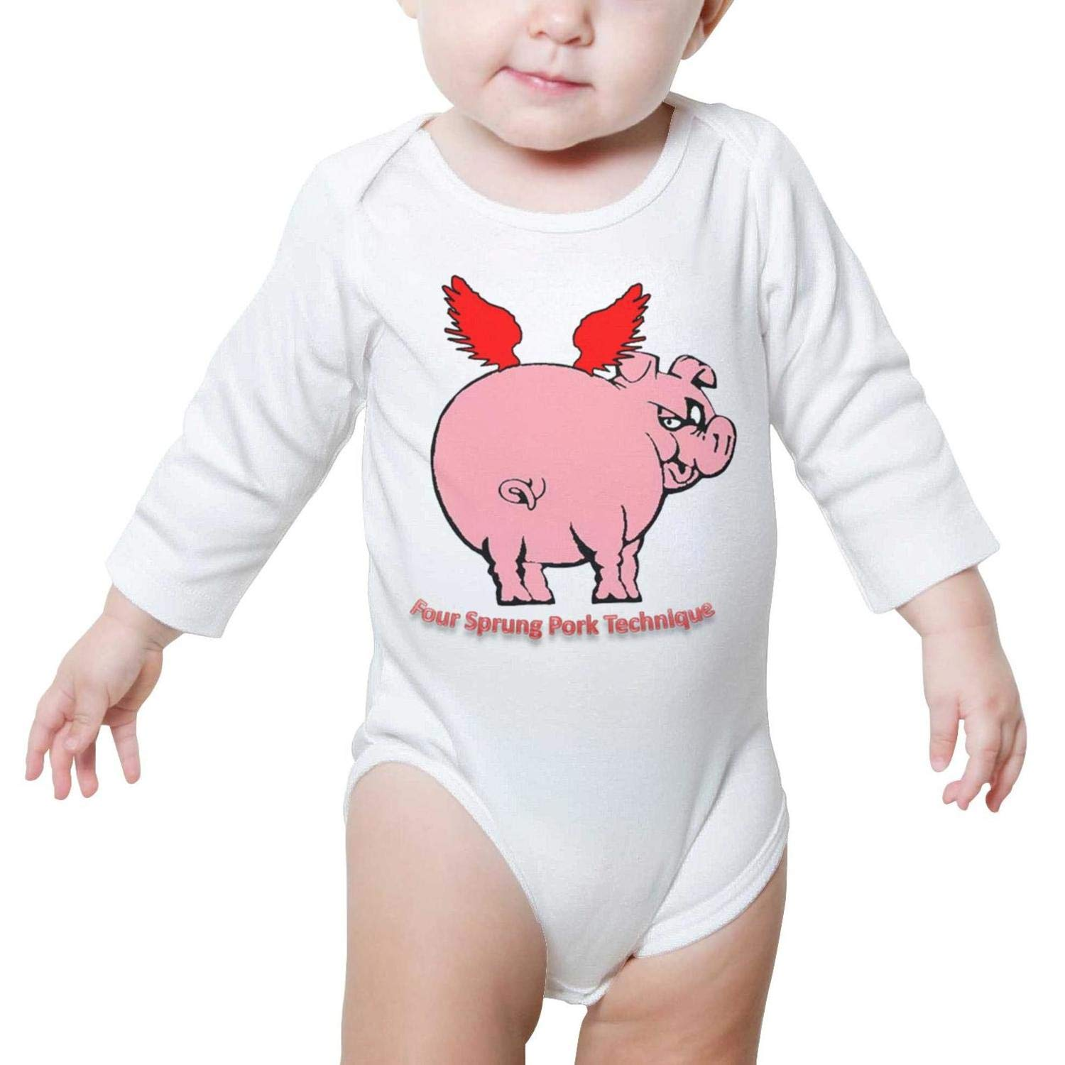 Staying Alive Pig Baby Onesies Clothing Long Sleeve Organic Cotton Funny