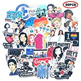 The TV Show Greys Anatomy FunnyPack of 50 Stickers,The Laptop Stickers for Water Bottles.Waterproof Laptops Sticker Vinyl Decal Sticker for Phone,Computer,Hydro Flasks,Cars,Bicycles