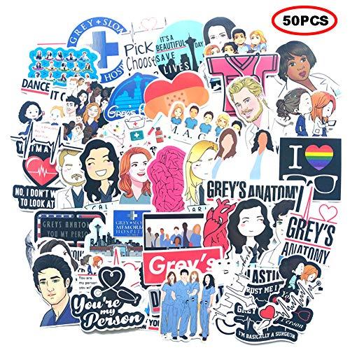 🥇 The TV Show Greys Anatomy Funny Pack de 50 pegatinas