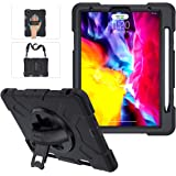 iPad Pro 11 Case 2020 & 2018 with Apple Pencil Holder, Military Grade [15ft Drop Tested] Protective Cover 360° Rotation…