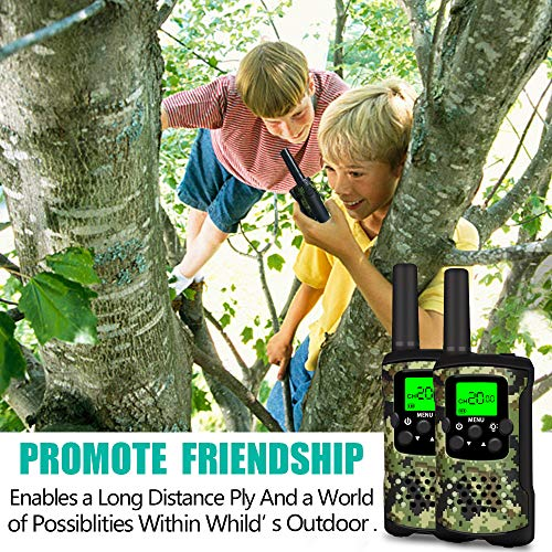 DIMY Toys for 3-12 Year Old Boys Girls, Walkie Talkies for Kids Long Range Birthday Presents Outdoor Outside Toys Gifts for 3-12 Year Old Boys Girls 2018 Christmas New Gifts for Kids Green DMUSDJ01