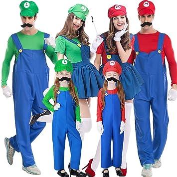 Disfraz Halloween Mujer Niña Adulto Plus Size Fontaneros De Mario ...