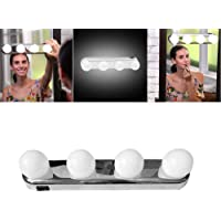 Prem® (Label) LED Vanity Mirror Lights,Studio Glow Vanity Make-up Light Natural Light for Makeup Dressing Table with 4 LED Bulbs and Powerful Suction Cups