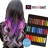 Temporary Hair Dye Color Non-Toxic Soft Pastels Chalk Colourful Hair Chalk Pens. Temporary Colour for Girls for All Ages. Makes a Great Birthday Gift (6 color)