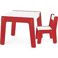 Conjunto De Mesa + Cadeira Infantil – Vermelha Junges Vermelho