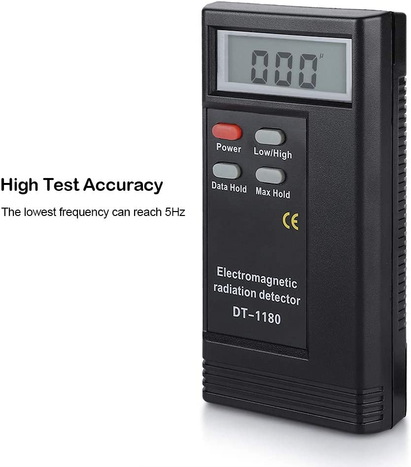LCD Display Electromagnetic Field Radiation Meter High Test Accuracy Handheld Dual Frequency Electric Magnetic Field Gauss Detector EMF Dosimeter Tester