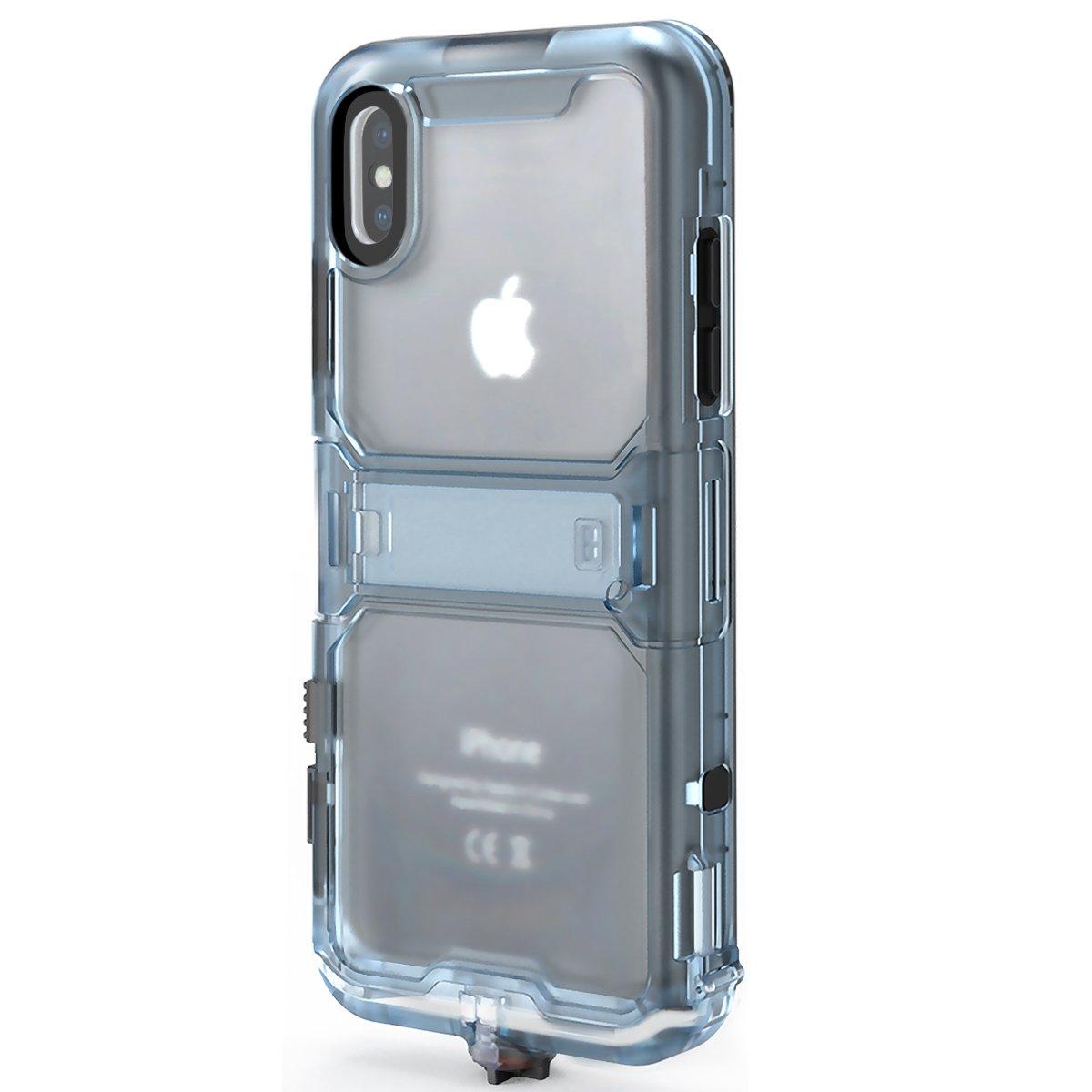 Cornmi iPhone X Waterproof Case, Full Sealed IP68 Certified Waterproof Shockproof Snowproof Protection Underwater Case for iPhone X 5.2inch (Black) by Cornmi (Image #10)