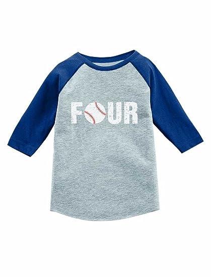 Amazon Tstars 4th Birthday Gift For Baseball Lover 3 4 Sleeve Jersey Toddler Shirt Clothing