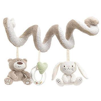 BOZEVON Bebé Juguetes Colgantes Espiral con Felpa Animales Linda de ...