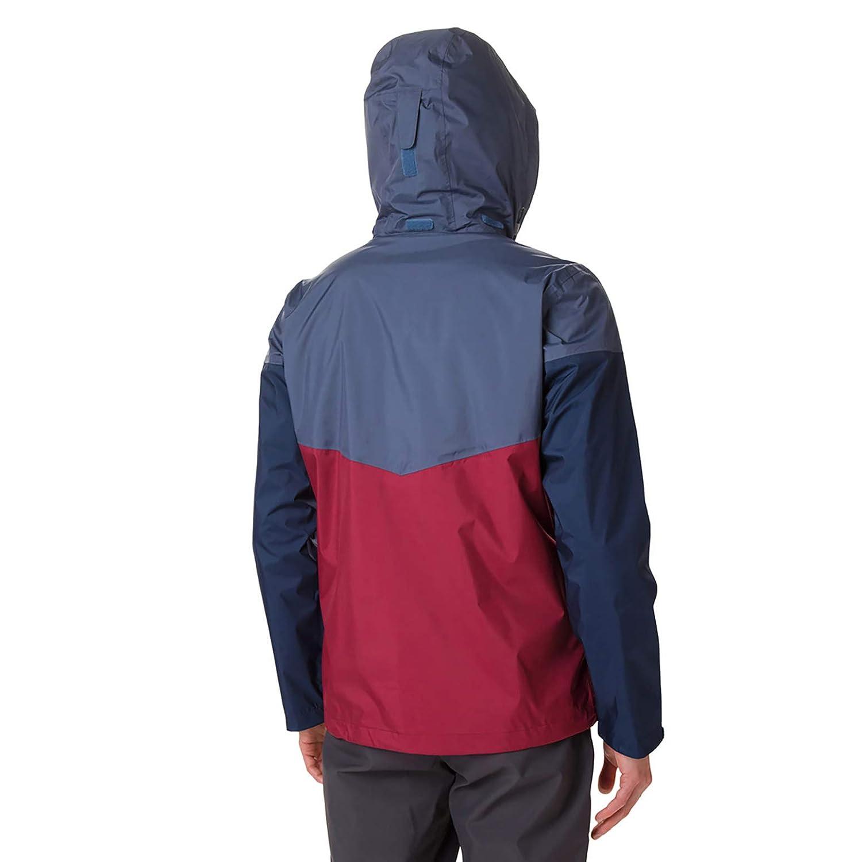Columbia Inner Limits L Rosso//Blu Giacca Impermeabile Uomo Dark Mountain Red Jasper//Grigio