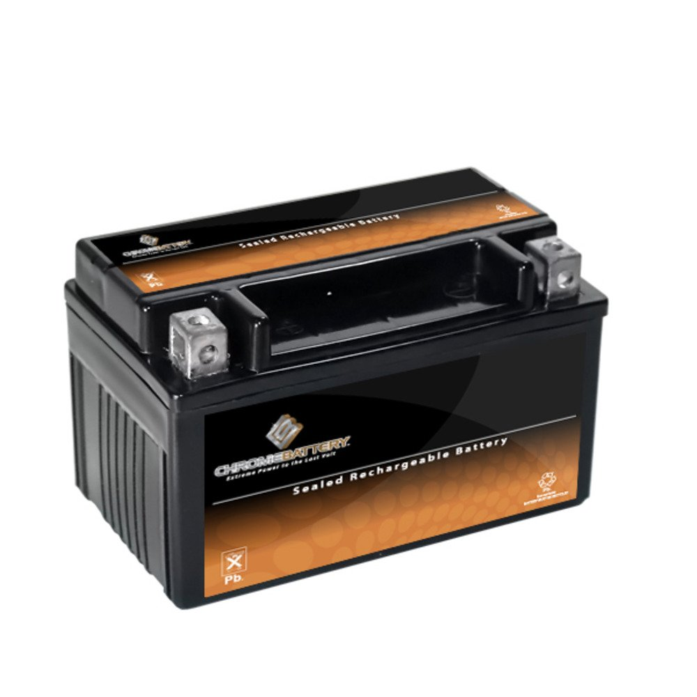 YTZ10S-BS | 10S-BS High Performance - Maintenance Free - Sealed AGM Motorcycle Battery Chrome Battery