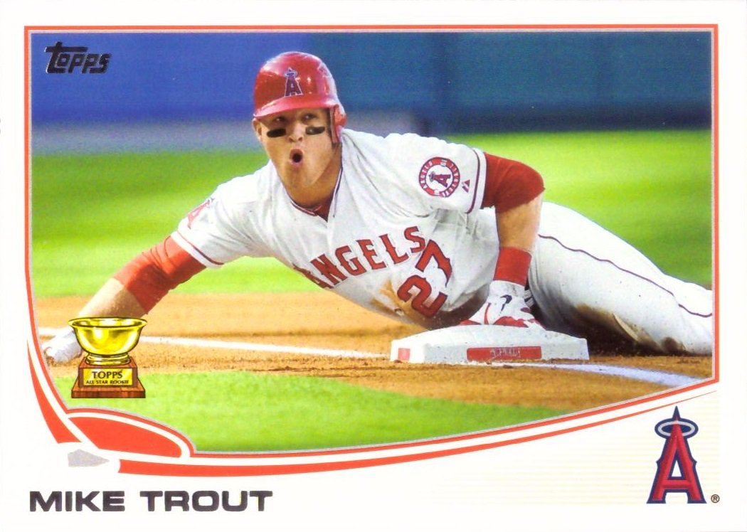 2013 Topps Baseball 27 Mike Trout Card Topps All Star Rookie