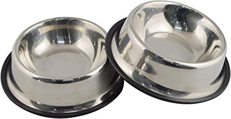 Mlife Stainless Steel Dog Bowl With Rubber Base