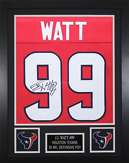 JJ Watt Houston Texans Signed Autograph Red Custom Jersey Tristar Authentic /& JSA Witnessed Certified