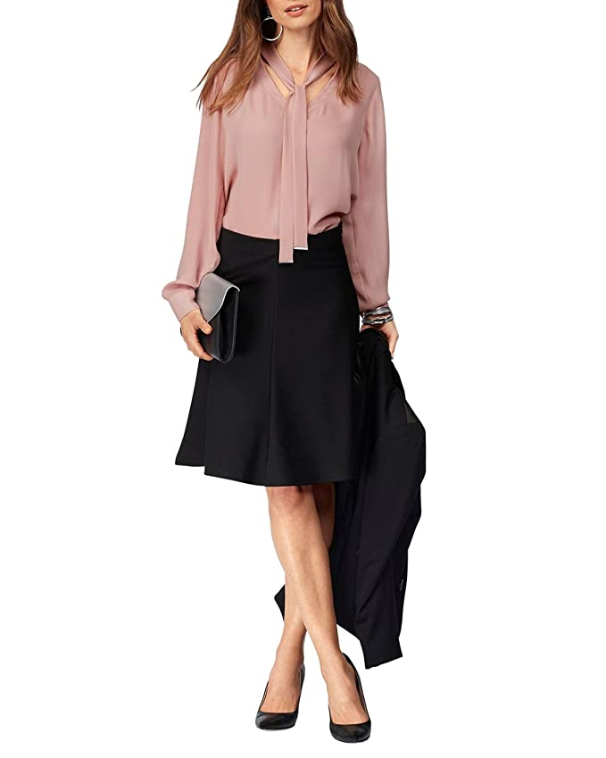 cf19d71b41da KENANCY Women's Retro A-line Skirts Work Office Business Above Knee Skirt  at Amazon Women's Clothing store: