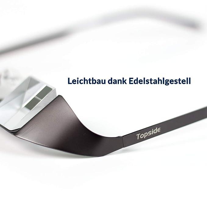 TOPSIDE Next Generation gafas de escalada 2.0 (ligeras | visión clara) incl. estuche deportivo - mosquetón, correa, bolsa de almacenamiento y paño de ...
