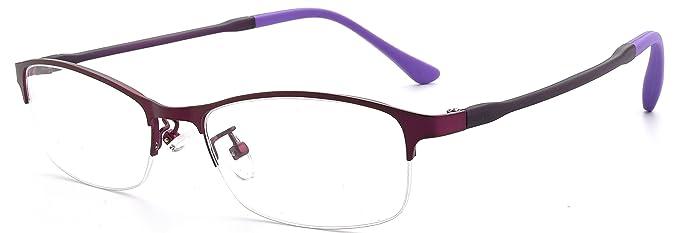 c4c78d00e200 JNS Eyewear Frames Prescription Eyeglasses Frame with Clear Lenses (Violet)