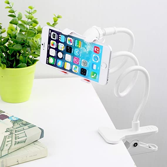 da67857509b4 Coomoors 360 Rotating Flexible Long Arm Cell Phone Holder Stand Lazy Bracket  Hands Free Fit on
