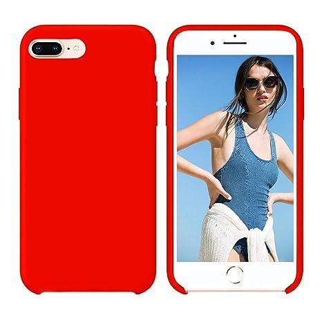Amazon.com: Funda de silicona líquida para iPhone 7 / 8 ...