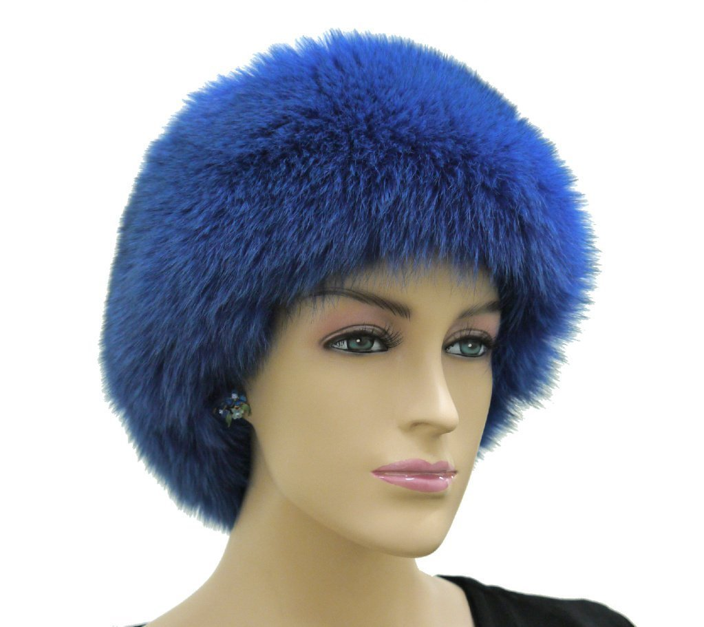 Fox Fur Headband (Royal Blue)
