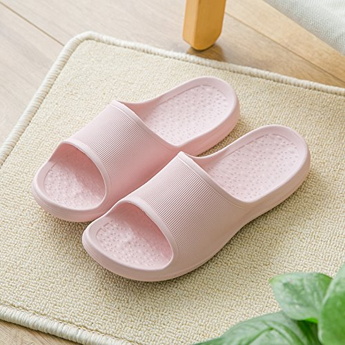 fankou The Bathroom Slippers Female Summer Seasons of Your Living Room. Soft, Non-Slip Bath Massage for Couples Stay Cool Slippers Men,36-37, Pink