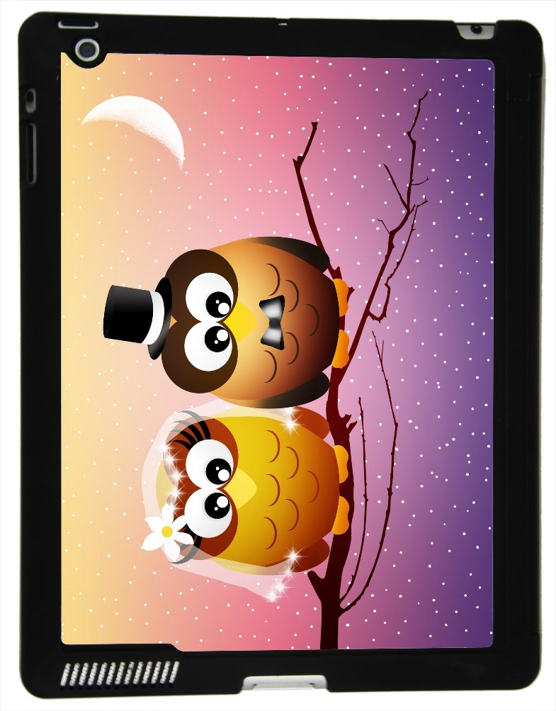 Rikki Knight? Owls in Love Wedding Twilight Illustration Design Smart Case Ultra-thin with Magnetic support for Apple iPad? 2/3/4 Gen