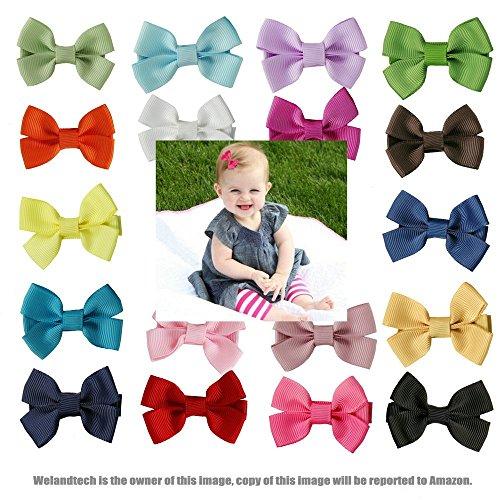 [Welandtech 20pcs Boutique Hair Bows Girl Baby Barrettes Ribbon Clips] (Princess Tiny Feet Costume)