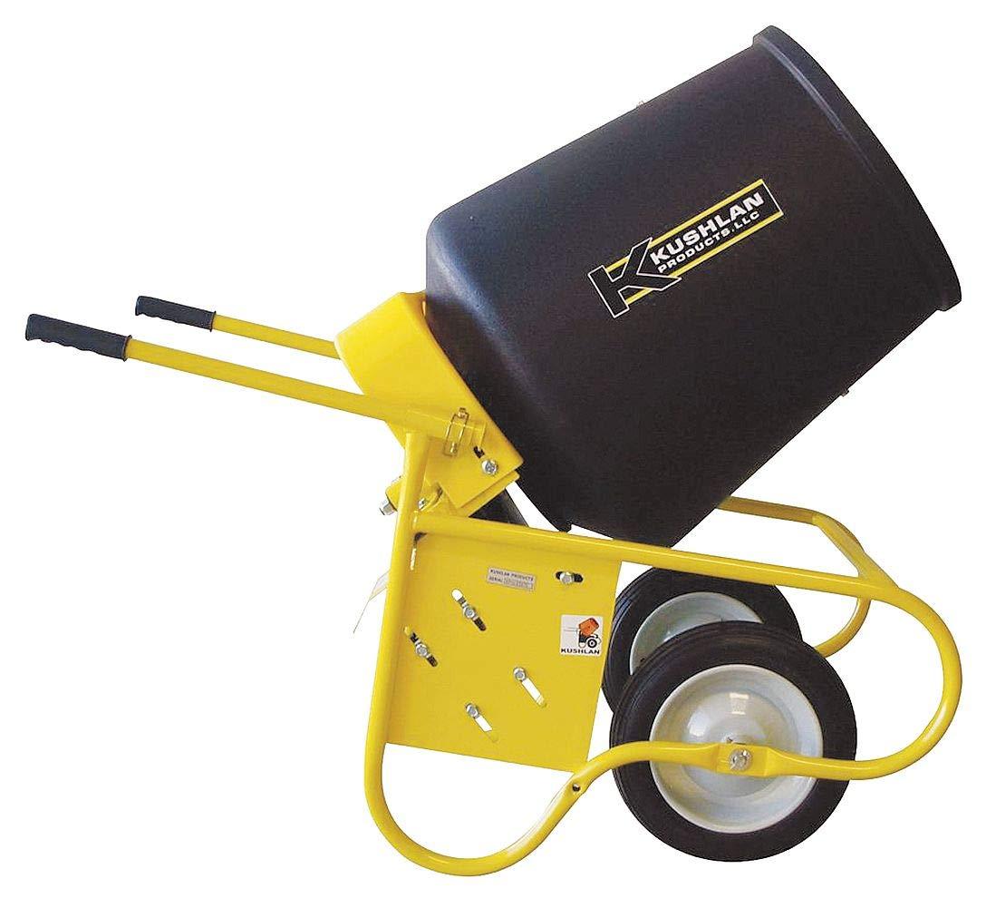 Kushlan Products Wheelbarrow Mixer, 3.5 cu ft, 115V, 1/2HP - KPRO