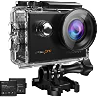 MGCOOL 4K Action Camera 16MP @30fps Video Camcorder with WiFi Control Underwater Sports Cam 170° Visual Wide Angle Lens with SONY Sensor, Waterproof Case, 2 Batteries-Black