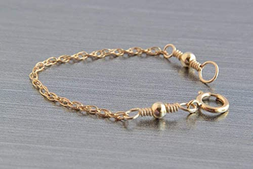 Amazon Com Gold Necklace Extender 14k Gold Filled Rope Chain 2 3 4 Or 5 Inches Handmade