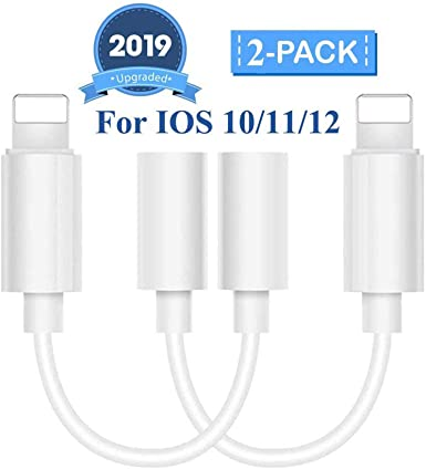 Headphone Jack Dual Adapter for iPhone 3.5mm 2 in 1 Headphone Charger Cable for iPhone7//7Plus//8//8Plus//X//Xs//Max//XR AUX Earphone Adaptor and Dongle Audio Splitter Accessory Supports The All iOS System