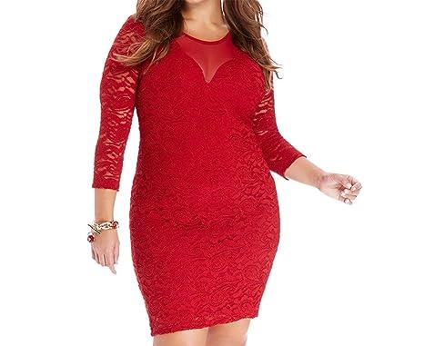 dce4b2094d 2016 Women's New Enlarge Fat Crochet Lace Dress Hip Skirt at Amazon Women's  Clothing store: