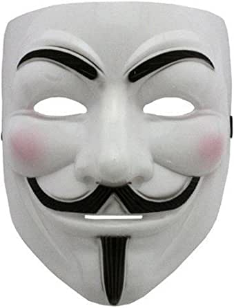 Boolavard V for Vendetta mask with Eyeliner Nostril Anonymous Guy Fawkes Fancy Adult Costume Accessories Halloween mask