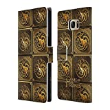 Official HBO Game Of Thrones Targaryen Golden Sigils Leather Book Wallet Case Cover For Samsung Galaxy S7 edge