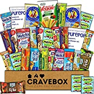 CraveBox - Healthy Snacks Care Package (30 Count) - Variety Assortment Bundle Box, Granola Bars, Popcorn, Snack Gift, Offices, College Students, Easter Basket Fillers Stuffers Kids, Boys, Girls, Young
