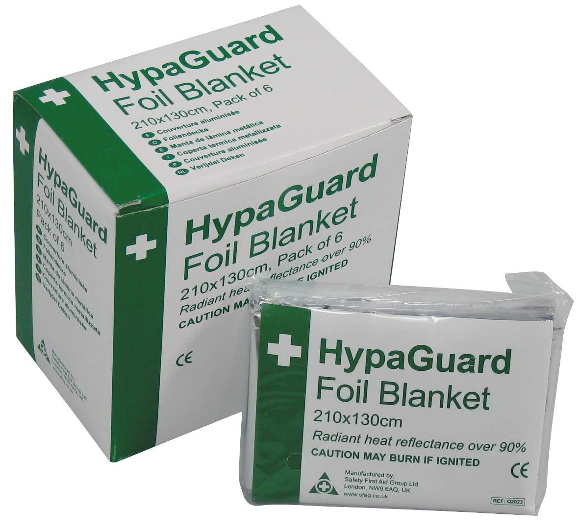 HypaGuard Foil Survival Blanket (Pack of 6)