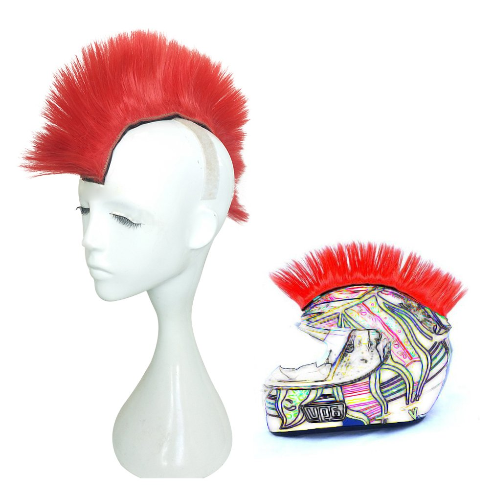 Namecute Skinhead Wig Black Helmet Mohawk Wig Costumes Hairpiece Mos