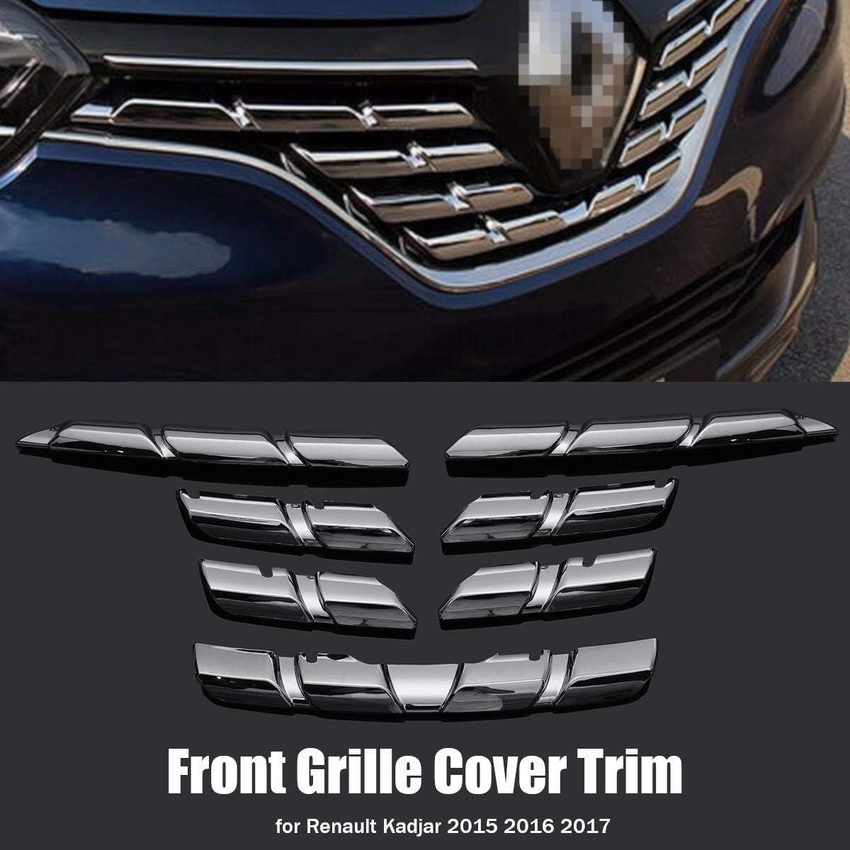 Sodial Auto Front Grill Abdeckung Zier Leiste Chrom Abs Protector Aufkleber Für Renault Kadjar 2015 2016 2017 Auto